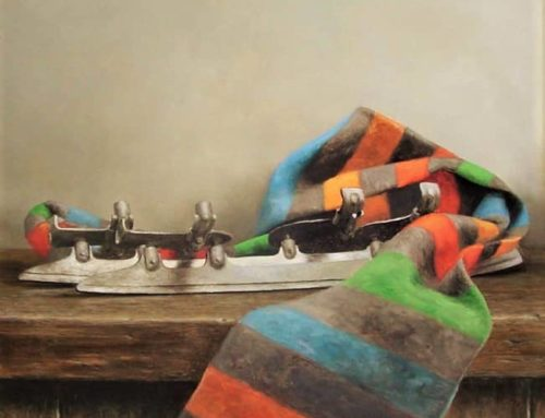 Still life with the old skates