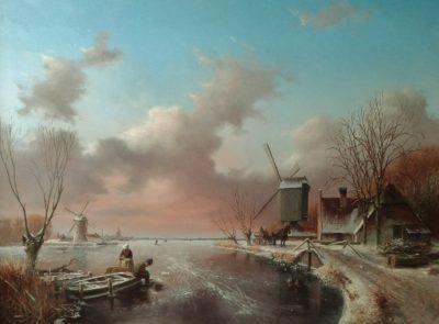 Winterlandschap 2014 – Olieverf op paneel – 120 x 93 cm
