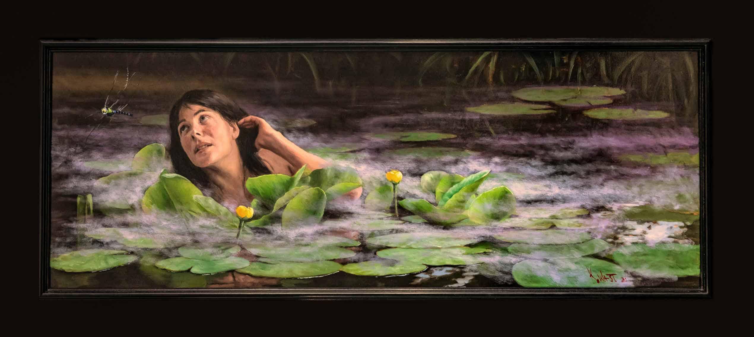 Waternimph 2020 doek 160 x 60 cm